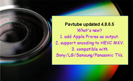 Pavtube Studio Released Upgrade 4.8.6.5 for All Windows Products – Support Apple ProRes Encoding