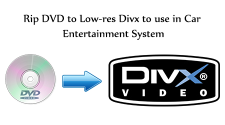 rip dvd to low res divx to usb stick and use in car. Black Bedroom Furniture Sets. Home Design Ideas