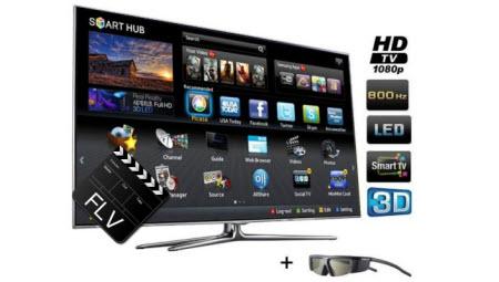 watch the downloaded flv videos on samsung led tv smart tv i mediasky. Black Bedroom Furniture Sets. Home Design Ideas